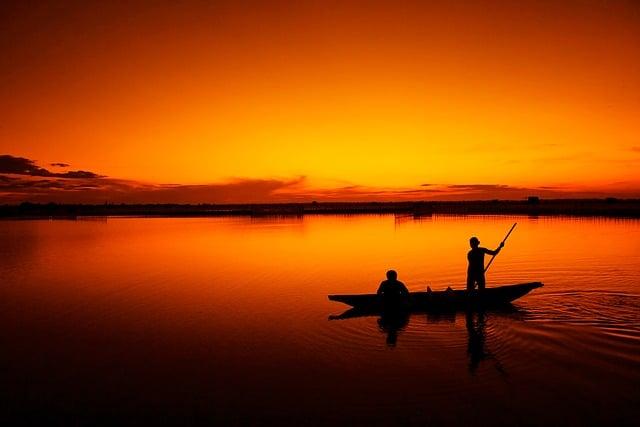 peche dans une barque